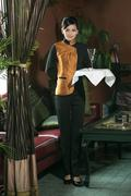 Stock Photo of Wear clothing occupation Chinese waiters