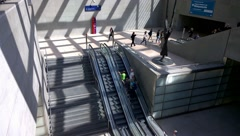 Berlin - Germany - Potsdamer Plazt underground station Stock Footage