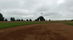 HD Stock 1080p Aerial - Baseball Field Stock Footage