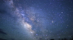 4K 3Axis Motion Control Astro Time Lapse Milky Way to Dawn in Desert -Zoom Out- Stock Footage