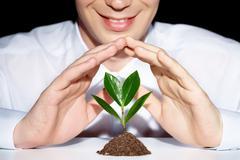 Preserve a plant - stock photo