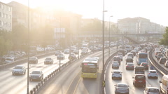 Congestion on a higway Stock Footage