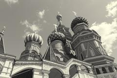 most famous Russian Cathedral on the Red Square - stock photo