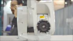 Robot Head Camera Control 4K UHD Stock Footage