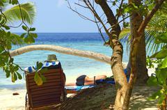 Beach Leisure on Maldives Stock Photos