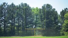 Tilt Down On Football Goal Post Stock Footage