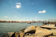 Time laps, View on Manhattan - stock footage