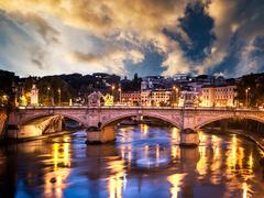 Beautiful bridge Stock Photos