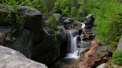 Maine Waterfall at Grafton Notch Stock Footage