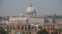 4K Vatican Rome, St Peter's Basilica, Saint Peter's Cathedral Dome, Cupola Italy Stock Footage