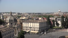 4K Aerial Vatican Piazza Popolo Rome Italy St Peter's Basilica Flaminio Obelix Stock Footage