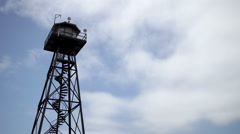 Watchtower on Alcatraz island. Stock Footage