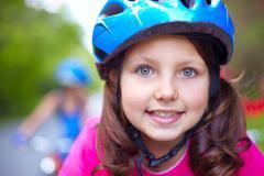 Cute cyclist - stock photo