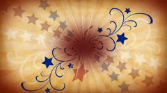 Patriotic Paper Stars Background Stock Footage