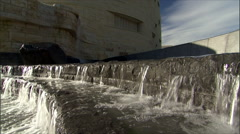 American Indian Museum-  Smithsonian-waterfall ms Stock Footage