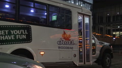 Shuttle Bus at Woodbine Racetrack and Casino Stock Footage