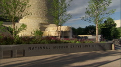 American Indian Museum - Smithsonian - sign zoom Stock Footage