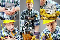 Manual worker Stock Photos