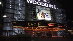 Woodbine Racetrack and Casino Stock Footage