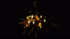 4k Fireworks in celebrations stage background,abstract particle vj art backdrop Stock Footage