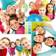 Team of kids - stock photo