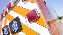 Ambulance Roadside Stock Footage