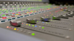 Audio Mixing Board Stock Footage