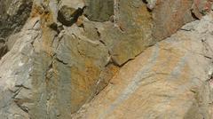 Sight of cut rock receiving the sun - stock photo