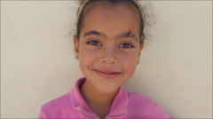 Berbers girl smiling portrait Stock Footage