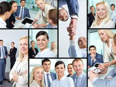 Business atmosphere - stock photo