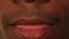 Sexy Black Male Lips Stock Footage
