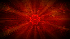 Red Star Flourish 1080  background Stock Footage