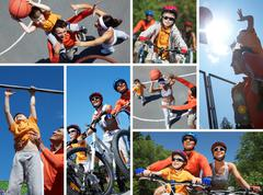 Sportive family Stock Photos