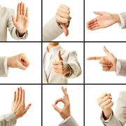 Language of gestures Stock Photos