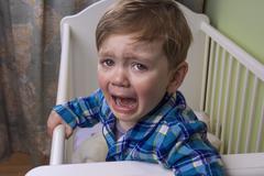 bedtime tears - stock photo