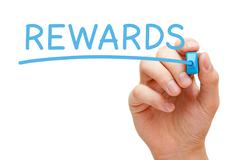 Rewards Blue Marker Stock Photos