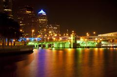 Downtown Tampa at Night Kuvituskuvat