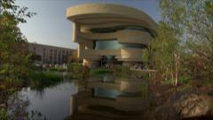 American Indian Museum - Smithsonian-reflection Stock Footage