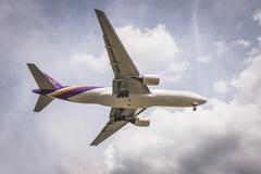 BANGKOK, THAILAND - MAY 20, 2015: HS-TJC Thai Airways International Boeing 77 - stock photo