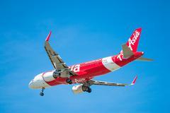 BANGKOK, THAILAND - JUNE 1, 2015: HS-BBG Airbus A320-216 of Thai Air Asia lan Stock Photos