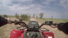 Quad driving in morocco point of view 4 - stock footage