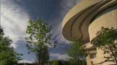 American Indian Museum - Smithsonian-overhang zoom Stock Footage