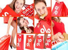 Shopaholic on sale Stock Photos