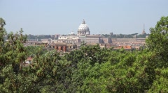 Stock Video Footage of 4K Vatican Rome, St Peter's Basilica, Saint Peter's Cathedral Dome, Cupola Italy