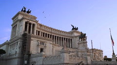 Altar Fatherland Monument Victor Emmanuel, Rome, Italy 4K Stock Video Footage Stock Footage
