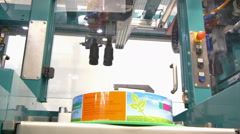 Factory Pack Robot Stock Footage