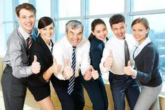 Successful associates - stock photo