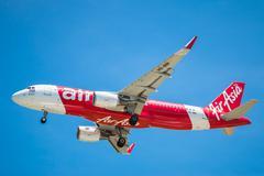 BANGKOK, THAILAND - JUNE 1, 2015: HS-BBI Airbus A320-216 of Thai Air Asia lan - stock photo