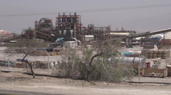 Dead Sea Works plant in Sedom Israel Stock Footage