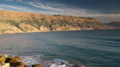 4k imessouane sea ocean morocco wild environment nature Stock Footage